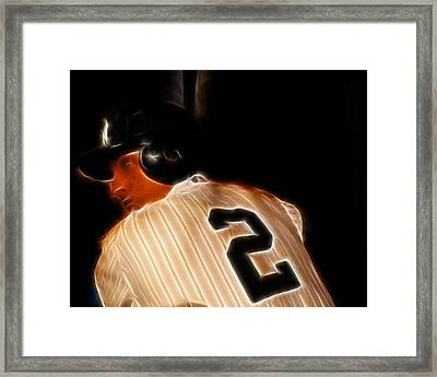 Derek Jeter II- New York Yankees - Baseball  Framed Print by Lee Dos Santos