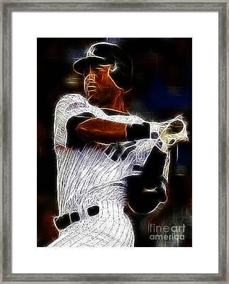 Derek Jeter New York Yankee Framed Print by Paul Ward