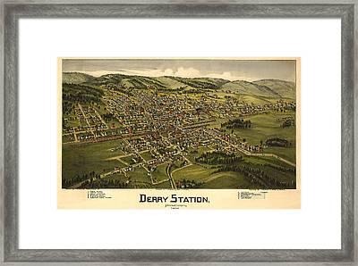 Derry Station Pennsylvania Framed Print by Donna Leach