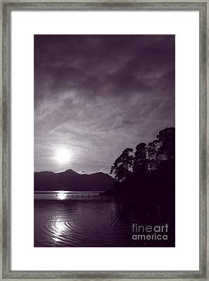 Derwent Ripples Framed Print by Linsey Williams