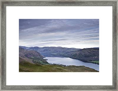 Derwent Water From Latrigg Framed Print by Julian Elliott Ethereal Light