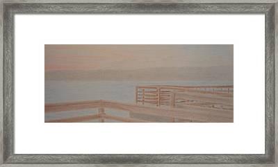 Des Moines Marina 3 Of 3 Framed Print