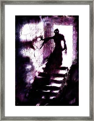 Descent Framed Print by Mark Conrad