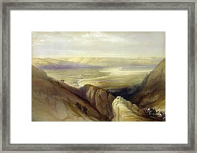 Descent Upon The Valley Of Jordan Framed Print by Everett