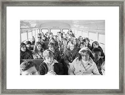 Desegregation: Busing, 1973 Framed Print by Granger