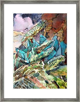 Desert Abstract Framed Print by Mindy Newman