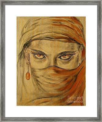 Desert Amber Framed Print by Iglika Milcheva-Godfrey