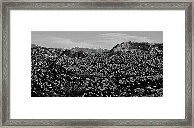 Desert And The Truchas Framed Print
