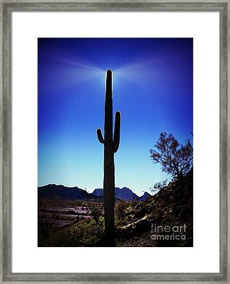 Desert Beacon Framed Print