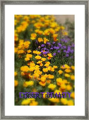 Desert Beauty Framed Print by Carla Parris