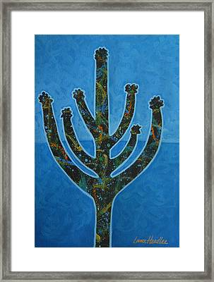 Framed Print featuring the painting Desert Blue by Lance Headlee