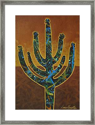 Framed Print featuring the painting Desert Brown by Lance Headlee