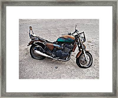 Framed Print featuring the photograph Desert Burn Out by Nick Kloepping
