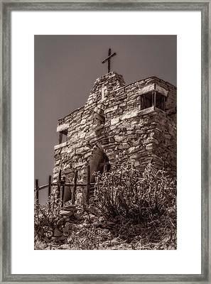 Desert Chapel Framed Print by Ken Stanback