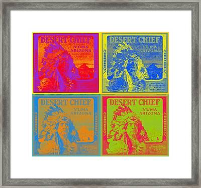 Desert Chief Cigar Box Label Framed Print by Dwayne  Graham
