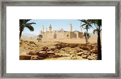 Desert City Framed Print