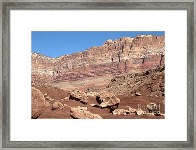 Desert Colors Framed Print by Bob and Nancy Kendrick