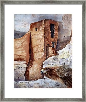 Framed Print featuring the painting Desert Dwellers by Mary McCullah