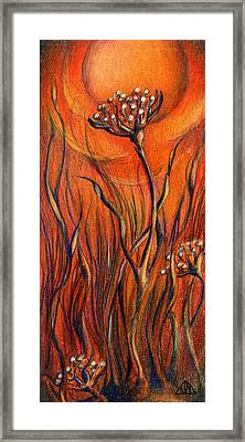 Framed Print featuring the mixed media Desert Flower by Nada Meeks
