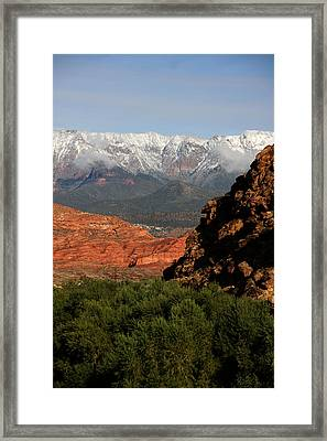 Framed Print featuring the photograph Desert Foothills II by Marta Alfred
