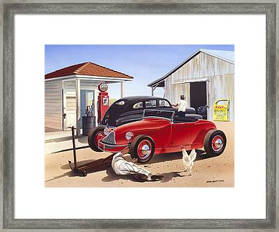 Desert Gas Station Framed Print by Bruce kaiser