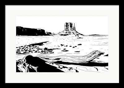 Canyon Drawings Framed Prints