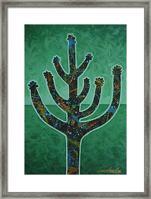 Framed Print featuring the painting Desert Green by Lance Headlee