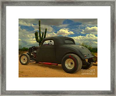 Desert Hot Rod Framed Print by Jerry L Barrett