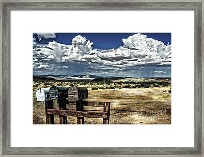Desert Mailboxes Framed Print by Danuta Bennett