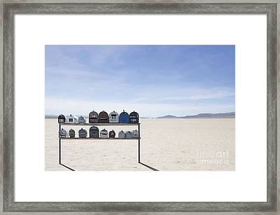 Desert Mailboxes Framed Print by Dave & Les Jacobs