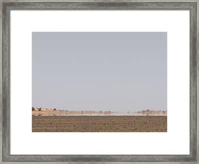 Desert Mirage, Libya Framed Print by David Parker