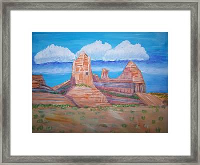 Desert Mountain Framed Print by Belinda Lawson