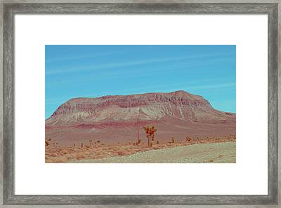 Desert Mountain Framed Print by Naxart Studio