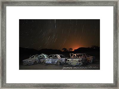 Desert Nights Framed Print by James Mcinnes