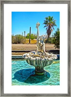 Desert Oasis - 02 Framed Print by Gregory Dyer