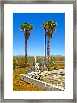 Desert Oasis Framed Print by Gregory Dyer
