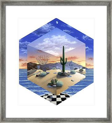 Desert On My Mind 2 Framed Print by Snake Jagger