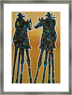 Desert Riders Framed Print
