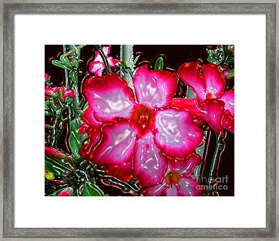 Desert Rose Digitally Painted And Plasticized Framed Print