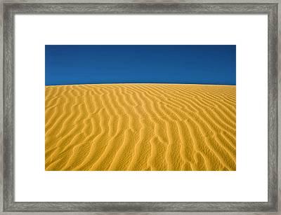 Desert Sand Dune Framed Print by Photostock-israel