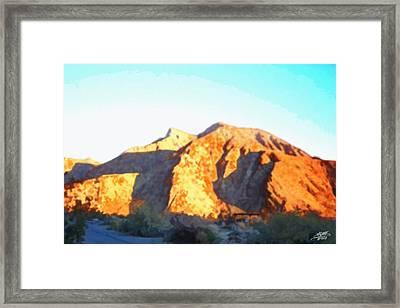 Desert Sunrise Framed Print by Steve Huang