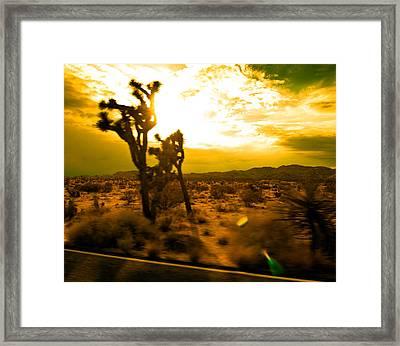 Desert Sunset Framed Print by Aurica Voss