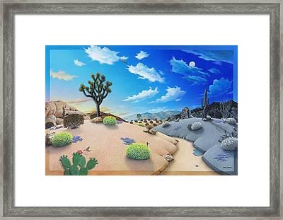 Desert Timeline Framed Print