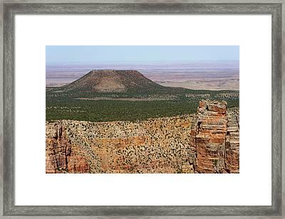 Desert Watch Tower View Framed Print by Julie Niemela