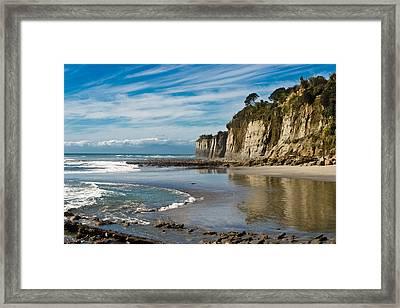 Deserted Beach Framed Print by Graeme Knox