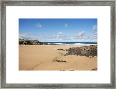 Framed Print featuring the photograph Deserted Beach by Paul Scoullar