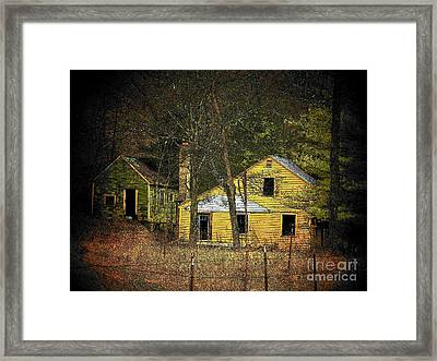 Deserted Cabins Framed Print by Joyce Kimble Smith