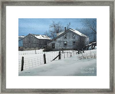 Deserted Farm Prince Edward County Framed Print