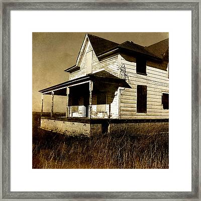 Deserted House Framed Print by Bonnie Bruno