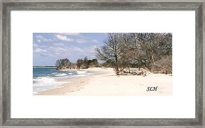 Deserted Island Framed Print